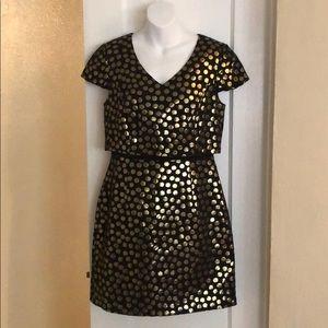 Black and gold Kensie dress
